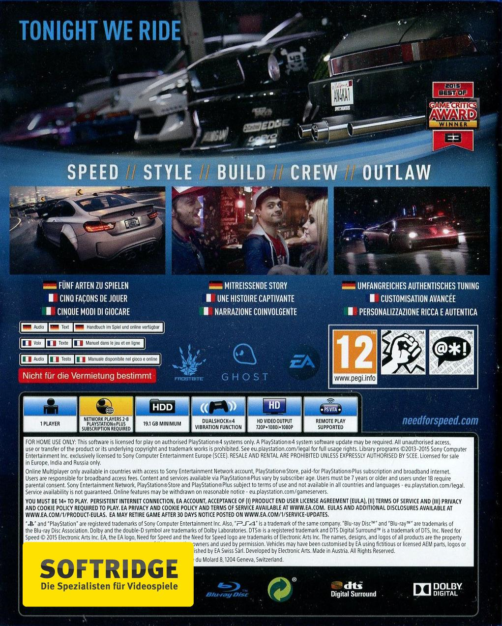 need for speed playstation hits playstation hits ps4. Black Bedroom Furniture Sets. Home Design Ideas